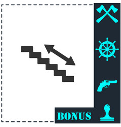 escalator icon flat vector image