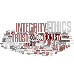 Ethics word cloud concept vector