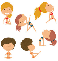 female yoga set vector image