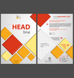 Flyer template with colored squares vector