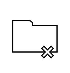 Folder delete or remove - line icon vector