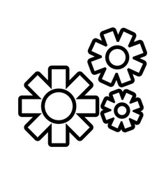 Gearwheel tool in white background vector