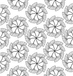 Gingko leaf circle seamless pattern white vector