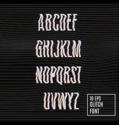 Glitch effect on the font vector