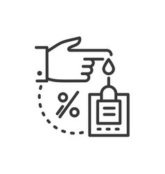 Glucose meter - line design single isolated icon vector