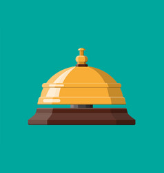 Golden service bell vector