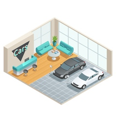 Hall Interior Isometric Design vector image