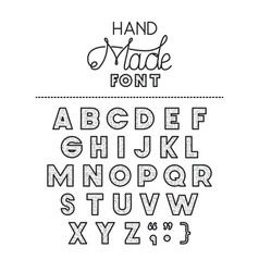 hand made font alphabet vector image