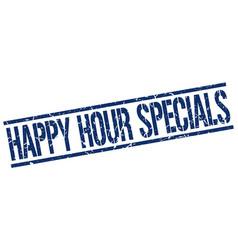Happy hour specials stamp vector