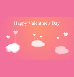 happy valentines day heart shape vector image
