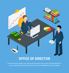 Head office business background vector