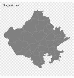 High quality map state india vector