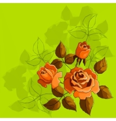 Holiday background with flower rose vector