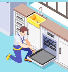 Home appliance repair background vector