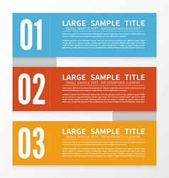 Infographic set vector image