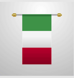 italy hanging flag vector image
