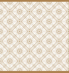 Japanese gold background and pattern the exquisit vector