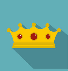 jewelry crown icon flat style vector image