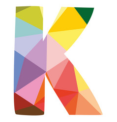 K colorful letter isolated on white background vector
