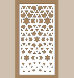 laser pattern room partition screen vector image