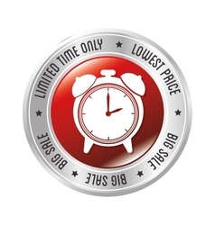limited time only lowest price big sale clock vector image