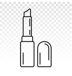 Lipstick - womens beauty cosmetics line art icon vector
