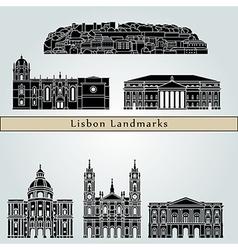 Lisbon V2 Landmarks vector image