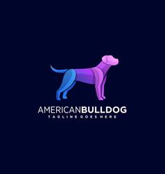 Logo american bulldog gradient colorful style vector