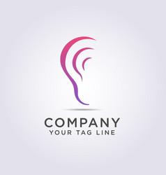 Logo ear shape template with a modern style for vector