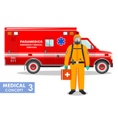 Medical concept detailed emergency doctor in vector