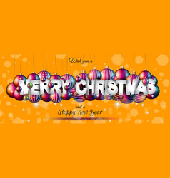 Merry christmas background for your seasonal vector