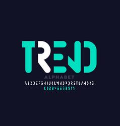 minimal style modern font vector image