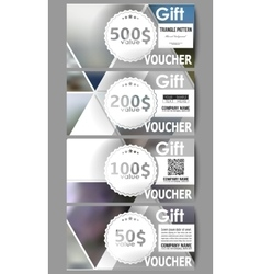 Modern gift voucher templates Abstract vector image