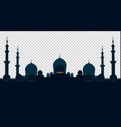 mosque muslim home isolated objects on a vector image