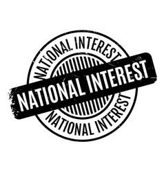 National interest rubber stamp vector