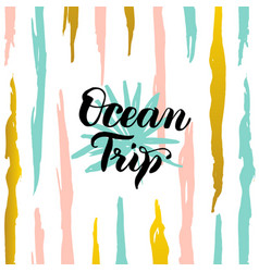 ocean trip card vector image