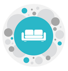 Of interior symbol on couch vector
