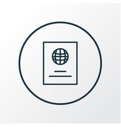 passport icon line symbol premium quality vector image