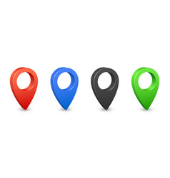 Pin map place location 3d icons color gps map vector