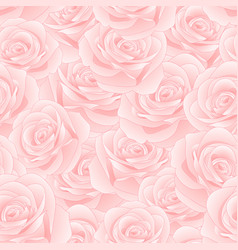 Pink rose seamless background vector
