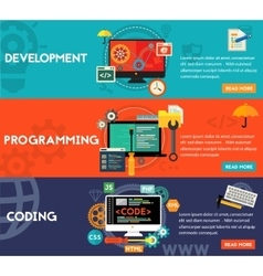 Programming Development and Coding Concept vector