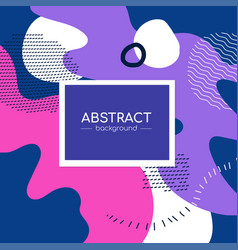 purple and pink poster - modern abstract vector image