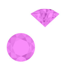 purple gemstone vector image