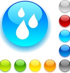 Rain button vector