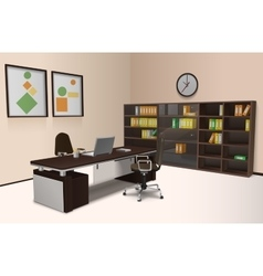 Realistic Office Interior vector image