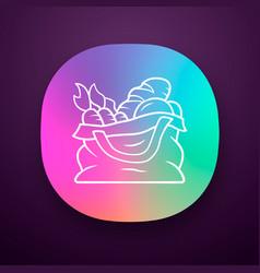 Reusable produce bag app icon vector