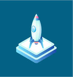 rocket symbol business equipment ship vector image