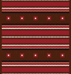 seamless ethnic horizontal stripes pattern vector image