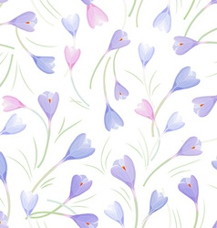 seamless texture with crocuses for your design vector image