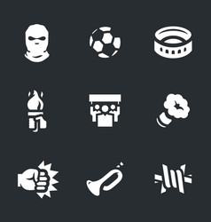 Set of riotous fan icons vector